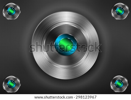 Metal plate steel background - stock photo