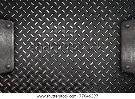 metal plate template - stock photo