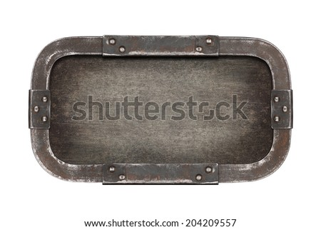 Metal plate texture. Industrial background. - stock photo