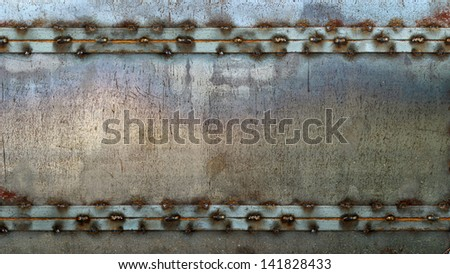 metal plate with frame. grunge video screen background 16:9 - stock photo