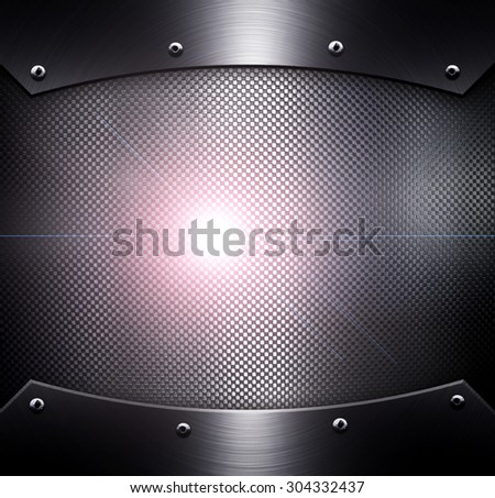 metal plate with light background - stock photo