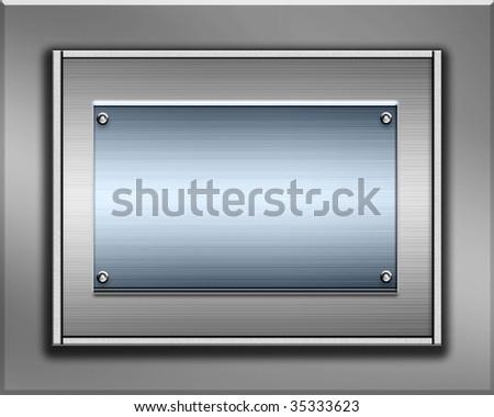 Metal Plates - stock photo