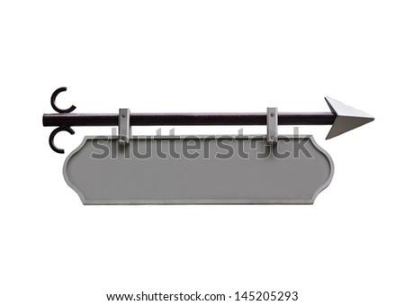 Metal pointer isolated on white - stock photo