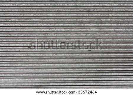 metal roller shutter door - stock photo