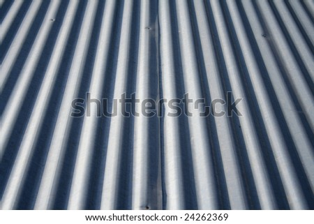 Metal roof texture - stock photo