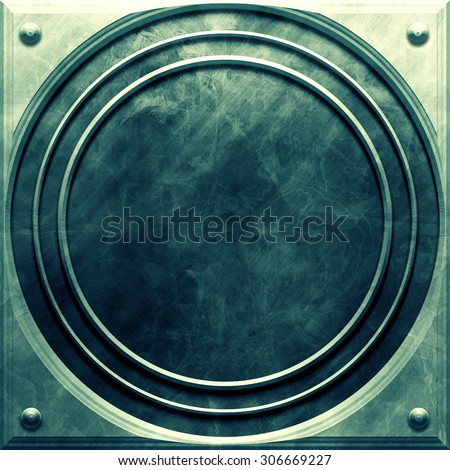 Metal round plate - stock photo