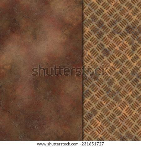 metal rust template - stock photo