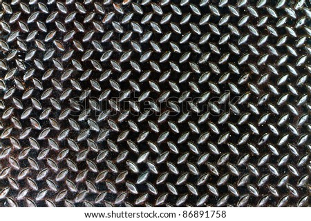 metal sheet background contaminated with oil and grunge - stock photo