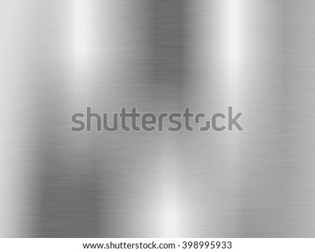metal, stainless steel texture background with reflection - stock photo
