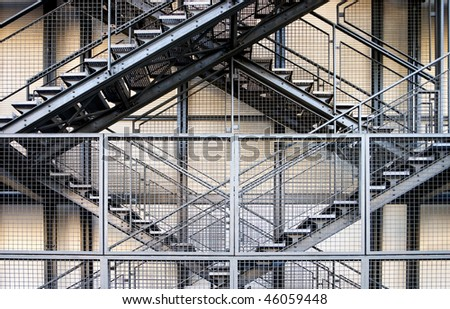 Metal stairs - stock photo