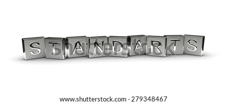 Metal Standarts Text (Isolated on white background) - stock photo