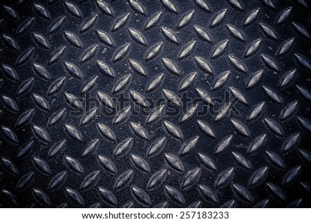 Metal surface pattern background in black grunge style  - stock photo