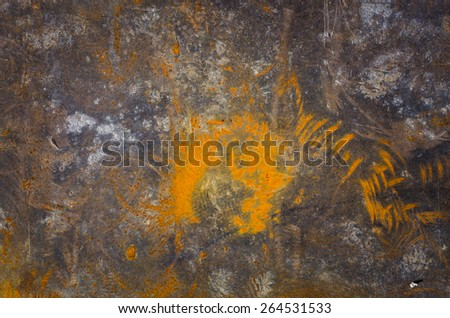 metal surface with rust texture as background image - stock photo