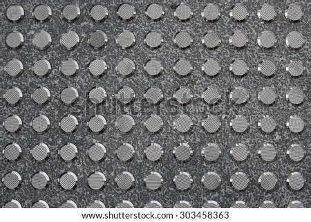 Metal Tactile Paving For Blind Handicap - stock photo
