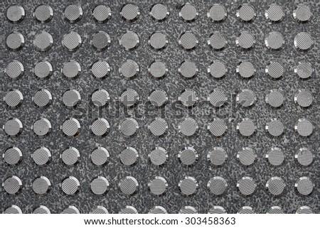Metal Tactile Paving For Blind Handicap - stock photo
