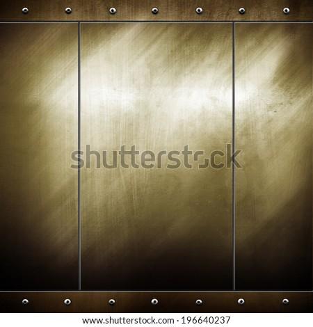 metal template  - stock photo