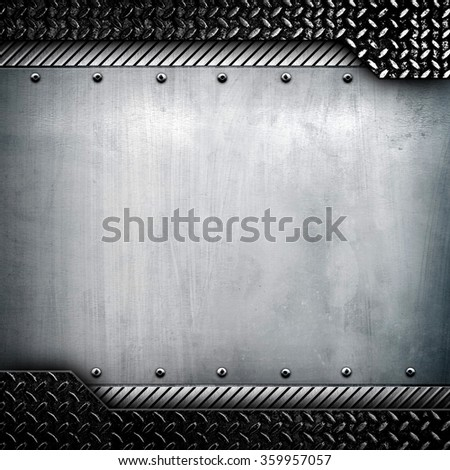 metal template with diamond plate - stock photo