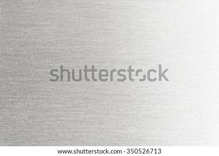 Metal texture background. Macro photo of brushed aluminum. - stock photo