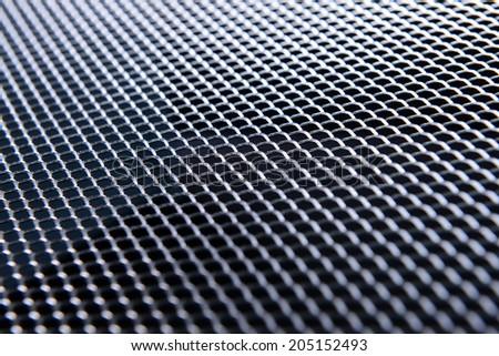 Metal texture close-up - stock photo