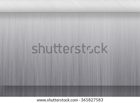 Metal texture neutral background with brushed chrome surface - stock photo