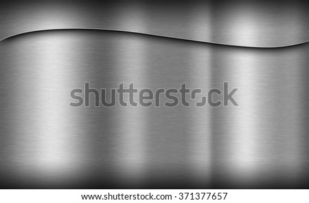 Metal texture neutral background with brushed surface - stock photo