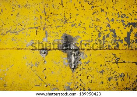 Metal texture on ship  - stock photo