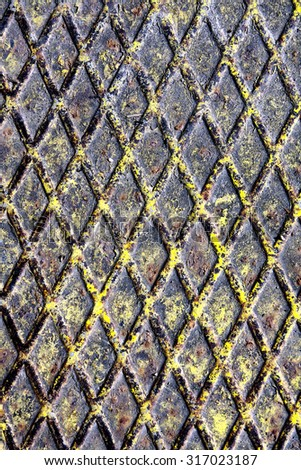 Metal Texture Painted Oxide Floor  Grungy Background.  - stock photo