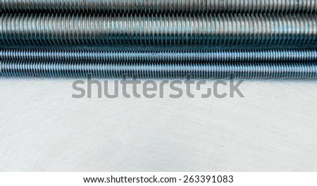 Metal tools. Metal style. Metal hairpins on the scratched metal background. - stock photo
