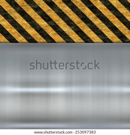 metal warning sign - stock photo