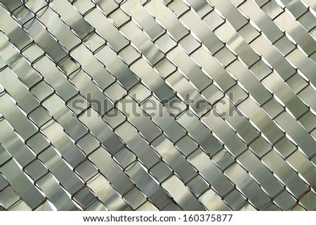 Metal weave texture background - stock photo