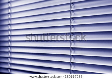 Metal window blinds background. (BW) - stock photo