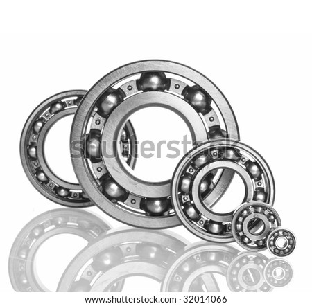metall Ball bearings - industrial design - stock photo