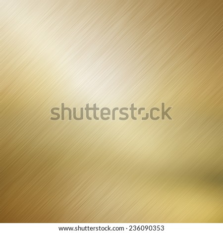 Metallic background with a gold brushed metal effect - stock photo