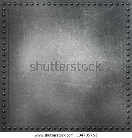 Metallic background with scratches and stains - stock photo