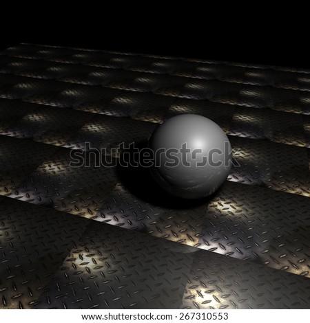 Metallic Bearings - stock photo