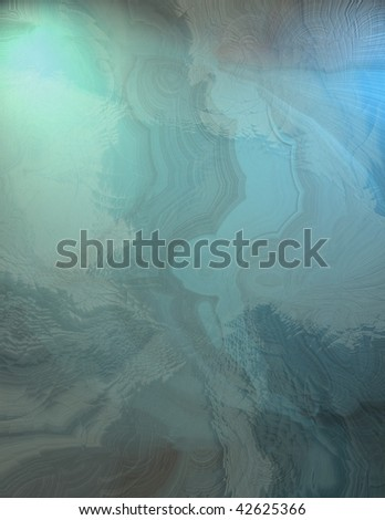 metallic blue gallery view abstract background - stock photo