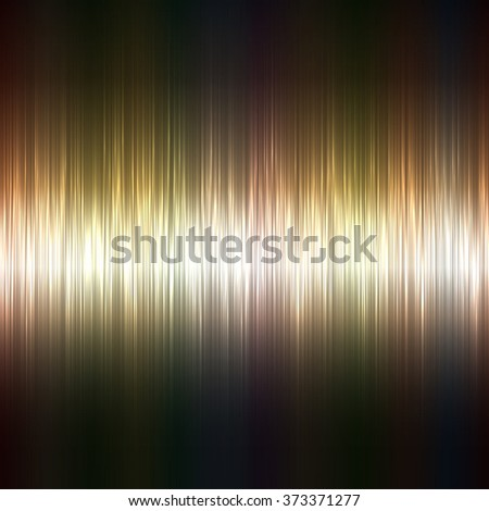 Metallic highlight stripes dark background. - stock photo