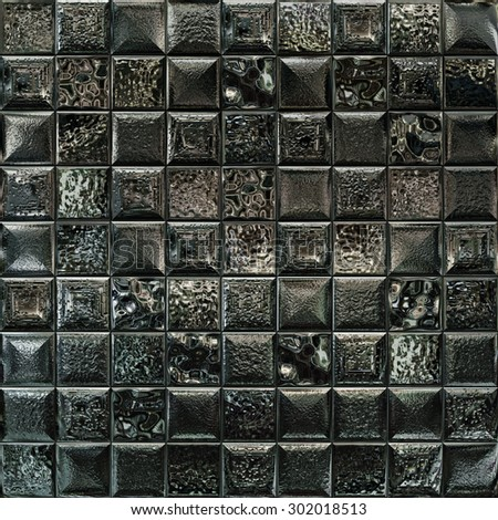 Metallic mosaic abstract background.  - stock photo