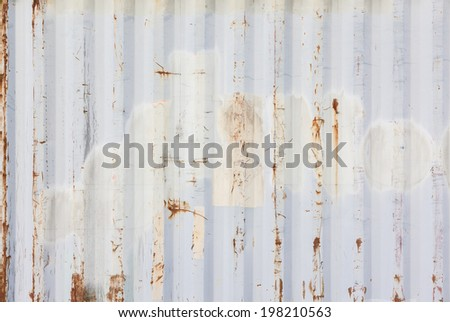 Metallic rusty texture stripe pattern - stock photo