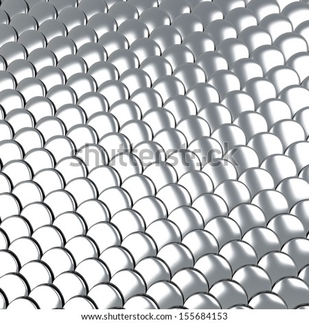 Metallic silver scales background 3d - stock photo