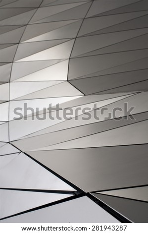 metallic surface - stock photo