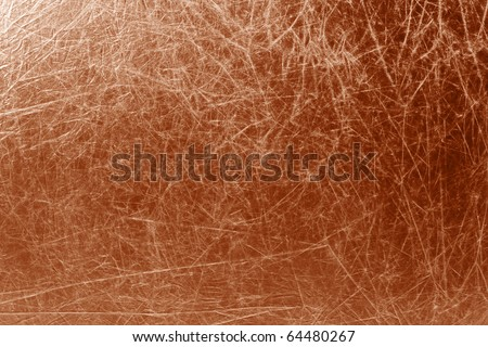 metallic textured copper background with empty space - stock photo