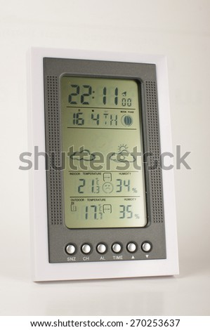 Meteo station close up - stock photo