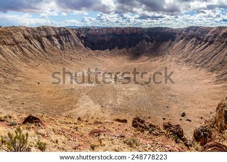 Meteor Crater in Winslow, Arizona, USA - stock photo
