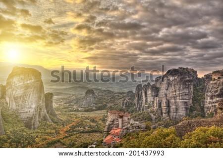 Meteora,Greece - stock photo