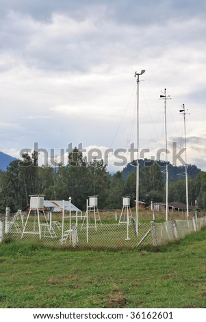 Meteorological station.Siberia, Mountain Altai - stock photo