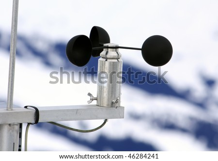 meteorological weather-station (measurement equipment) - stock photo