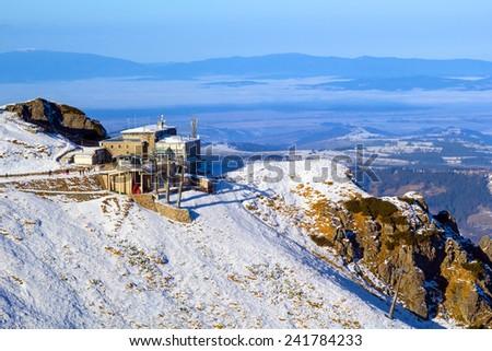 Meteorology station on Kasprowy Wierch in Tatra mountains, Poland - stock photo