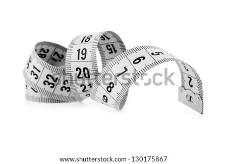 meter on a white background - stock photo