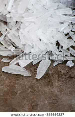 Methamphetamine also known as crystal meth - stock photo